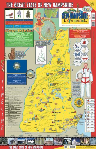 Gallopade Publishing Group 22 x 34 Inches The New Hampshire Experience Poster/Map (9780793397761) County New Hampshire Map