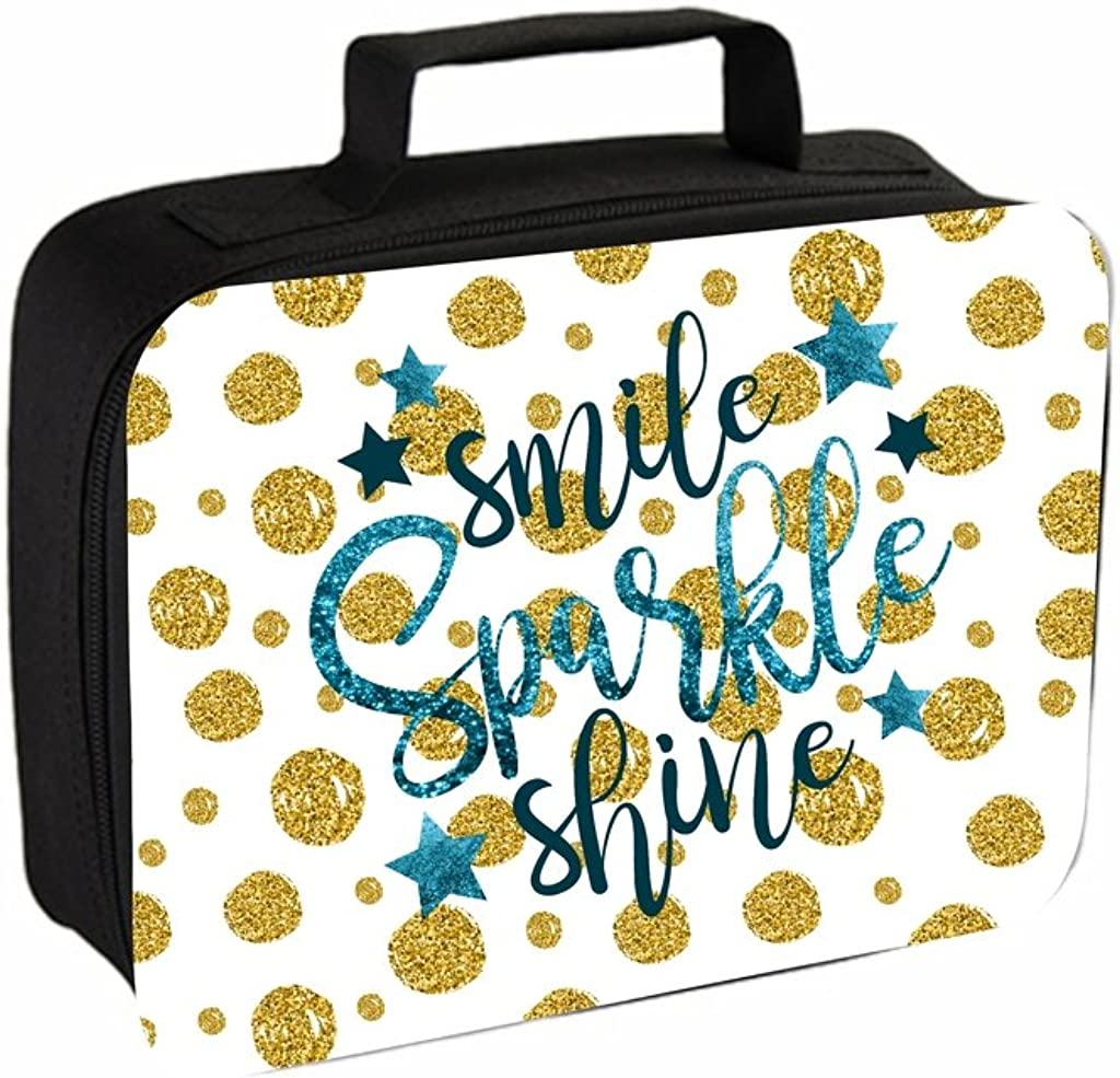 Pencil Case and Insulated Lunch Bag Set Smile Sparkle Shine Faux Glitter Print Jacks Outlet TM School Backpack
