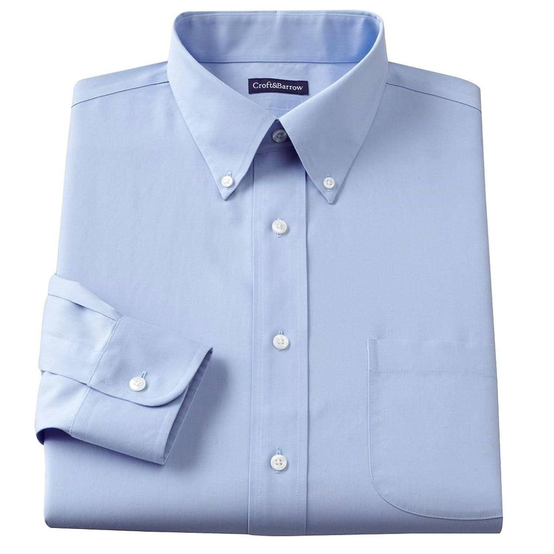 Croft & Barrow Mens Classic Fit 100% Cotton Button Down Collar ...