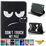 Kindle fire 7 Case - JZCreater Folio PU Leather Case Cover with Auto Wake/Sleep for All-New Amazon Fire 7 Tablet (7inch Display 5th Generation 2015 & 7th Generation 2017), Don't Touch Me