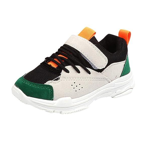 YanHoo Zapatos para niños Zapatillas de Deporte de Terciopelo Antideslizante para niños de Color Contraste Casuales Colores Mezclados Deporte Estilo de ...