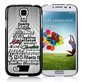 Customized Design Abstract Christmas Tree Letters Black TPU Protective Skin For Samsung I9500,Samsung Galaxy S4 by Maris's Diary