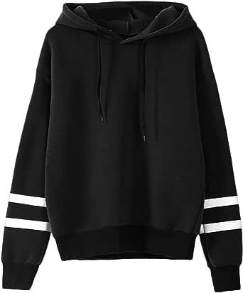 Inlefen Women Long Sleeve Hoodie Sweatshirt Jumper Hooded Pullover Blouse Tops