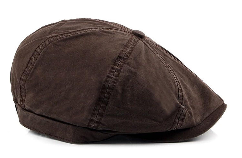 FENGFA Retro Beret Men's Cotton Cap Cabbie Hat Newsboy Driving Flat Cap (6 Colours) FF-B09