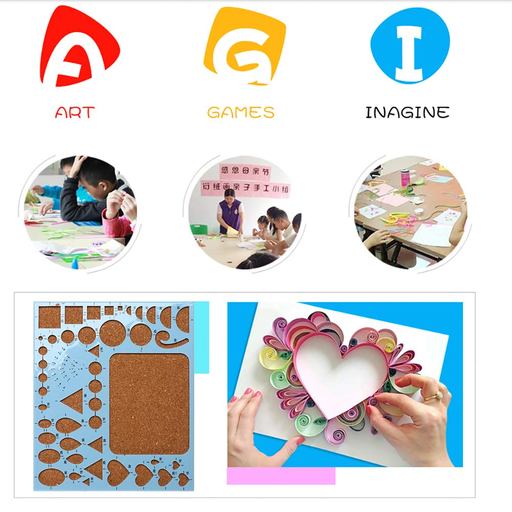 Complete Quilling Paper Kits with Tools, 45 Colors 1620 Strips Board Mould Crimper Coach Comb DIY Set for Art Craft by LAMPTOP by LAMPTOP (Image #5)