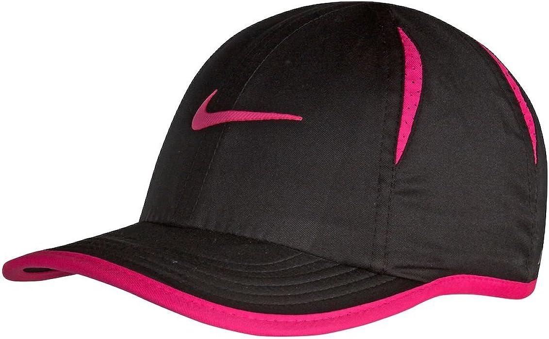 17c850da9c6 Nike Kids Dri-FIT Featherlight Printed Adjustable Hat (Black (1A2627-09)    Hyper Pink