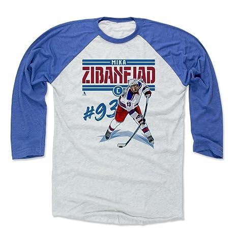 huge discount 57c9d c2f20 Amazon.com : 500 LEVEL Mika Zibanejad Shirt - New York ...