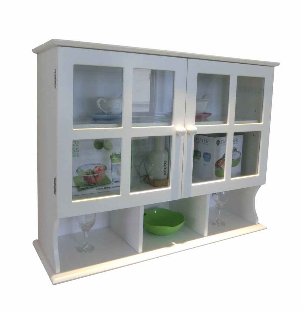 Homecharm 31.5×9.6×24-Inch Wall Cabinet,White HC-032