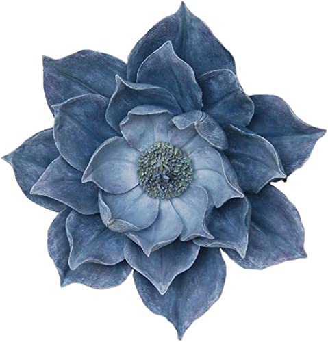 Benzara Exquisitely Styled Resin Lotus Wall Flower Decor
