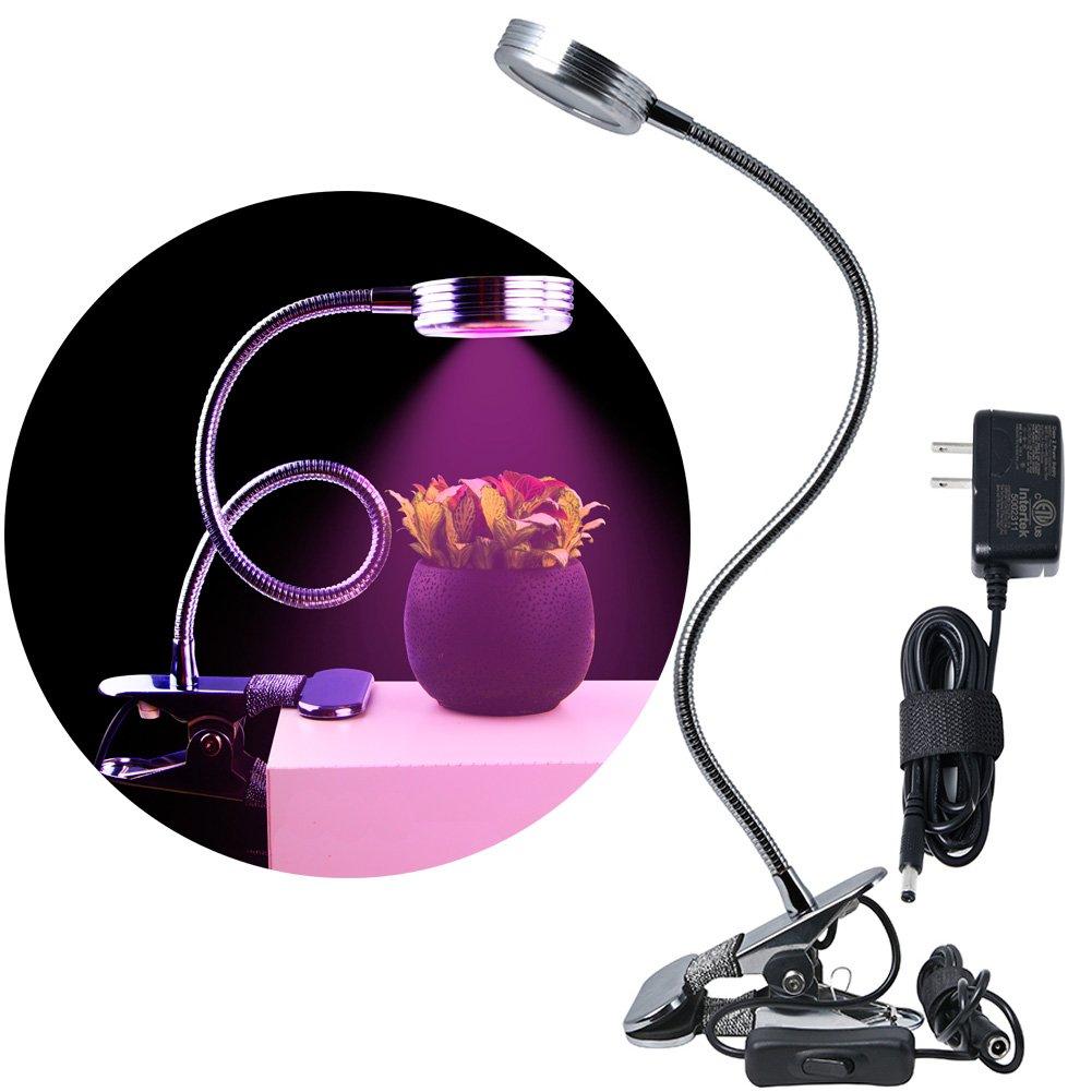 OLEDA LED Gooseneck Grow Light Clip On Plant Lamp