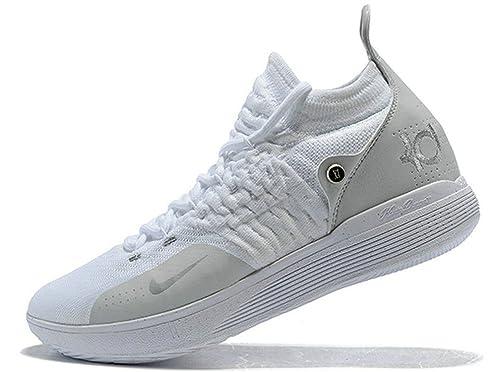 Kevin Durant KD 11 Zoom White Chrome Pure Platinum Zapatos de ...