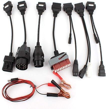 Kyrieval Universal Car OBD-II OBD2 Diagnostic Adapter Cable Set for AutoCom Delphi CDP DS150E 8 Pcs