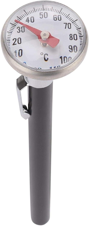 FOLOSAFENAR Termómetro de Leche Material de Acero Inoxidable Termómetro de Superficie Digital Grande para Leche en Polvo -10 a 110 ° C para Control de Temperatura de Espuma de Leche
