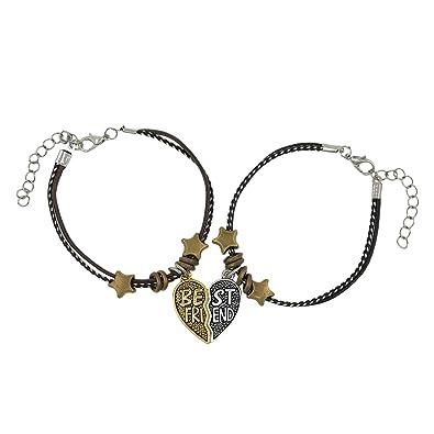 Saizen Valentine Multicolor Friendship Day Special for Best Friend with  Best Friend Letter Design Leather Bracelet