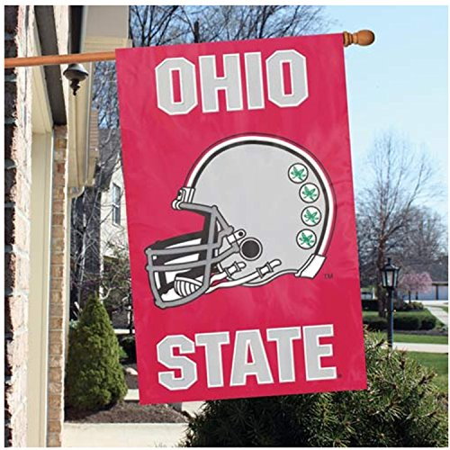 - Party Animal Official National Collegiate Athletic Association Fan Shop Authentic NCAA School Sports Man Cave Spirit Flag - Banner (Ohio State Buckeyes)