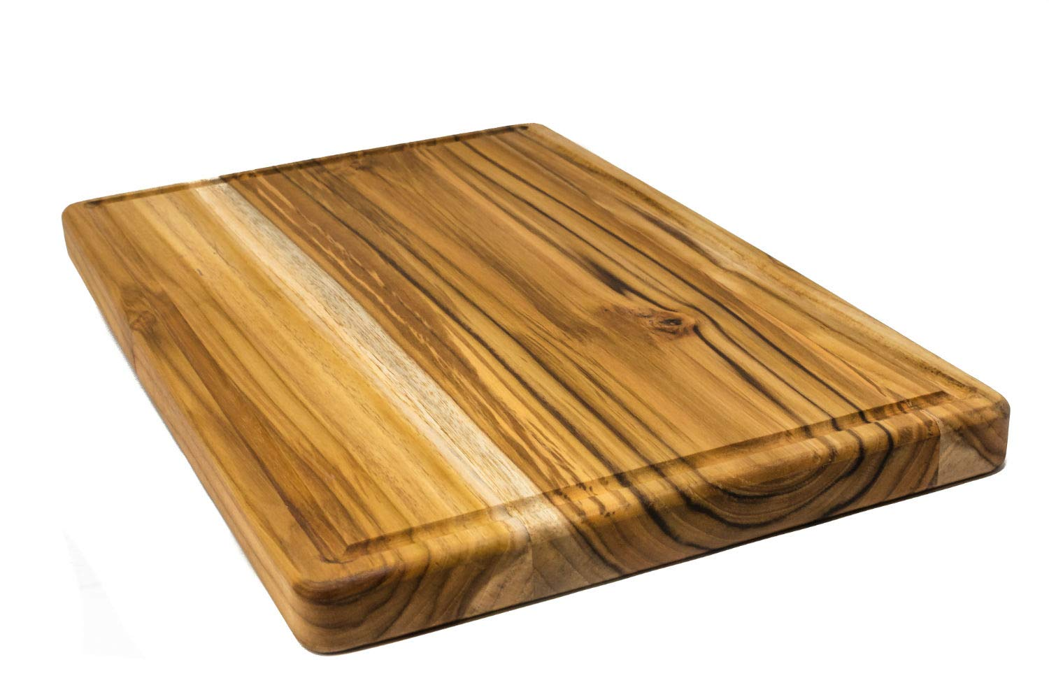 Large Reversible Teak Wood Cutting Board with Juice Groove - Hardwood Chopping Block and Serving Tray (17x11x1 Inches) by Do it wiser (Image #6)
