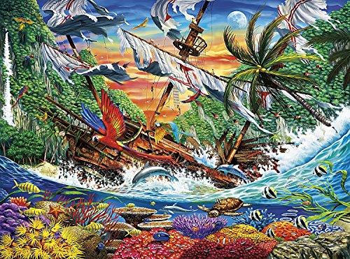 Buffalo Games - Marine Color - Shipwreck Reef - 1000 Piece Jigsaw Puzzle - Colours Marine