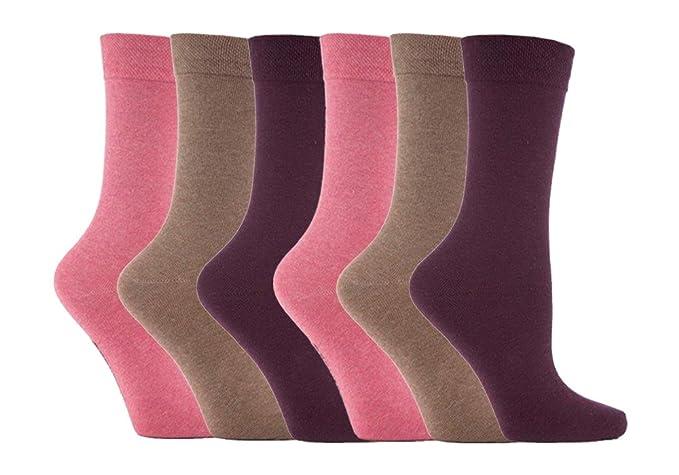 Jennifer Anderton - 6 pares Mujerseñoras del diseñador calcetines superiores de ancho con suave agarre de