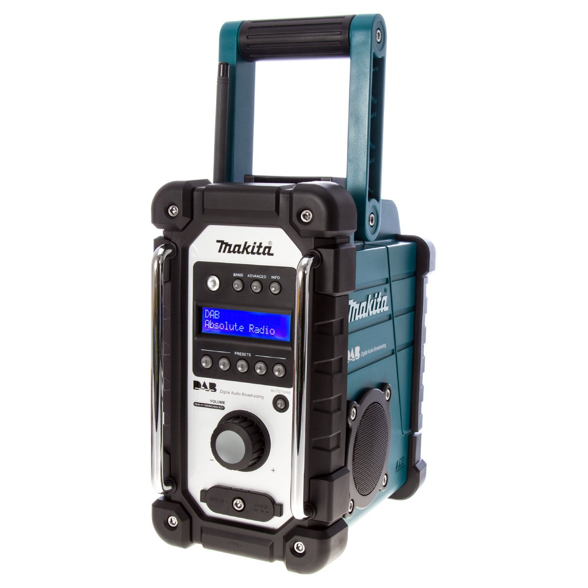 MAKITA Radio de chantier FM 7, 2-18V et un adaptateur secteur 230V DMR104