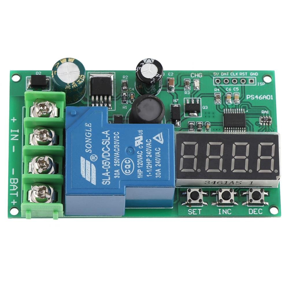 12V 24V 48V Lead-Acid Battery Charge Controller Protection Board Auto Start/Stop Module Wal front