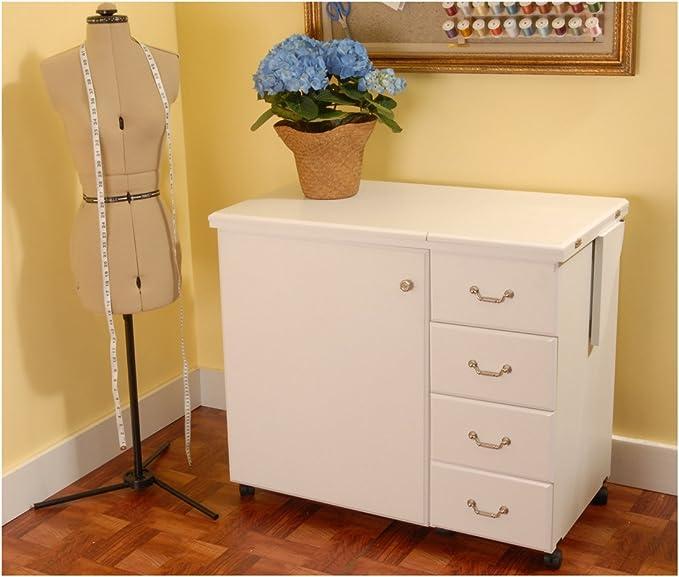 Mueble para máquina de coser- Norma Jean Blanco: Amazon.es: Hogar