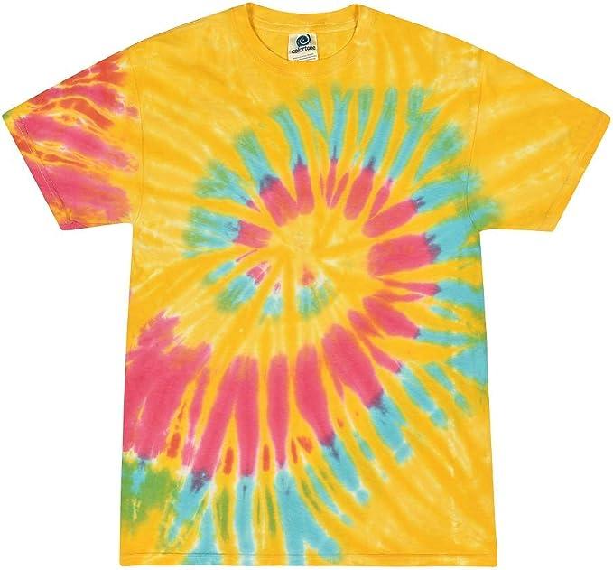 Colortone Camiseta tie dye para jóvenes y adultos