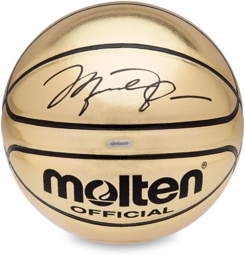 Michael Jordan Autographed Molten Gold