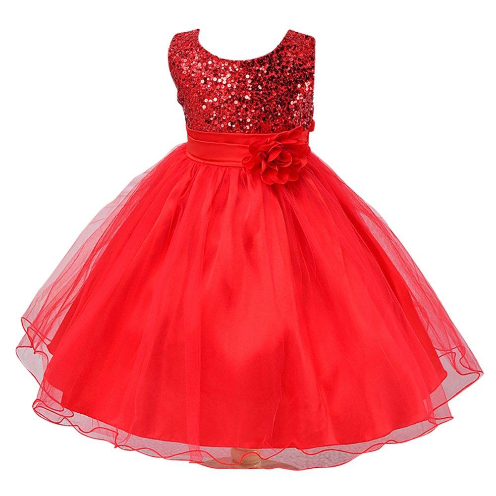 Vestido de Princesa para Niña de Boda Noche Fiesta: Amazon.es: Deportes y aire libre