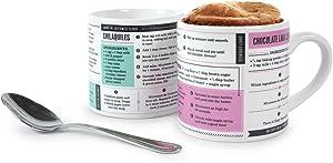 Genuine Fred GRUB MUGS Microwave Recipe Mugs, White