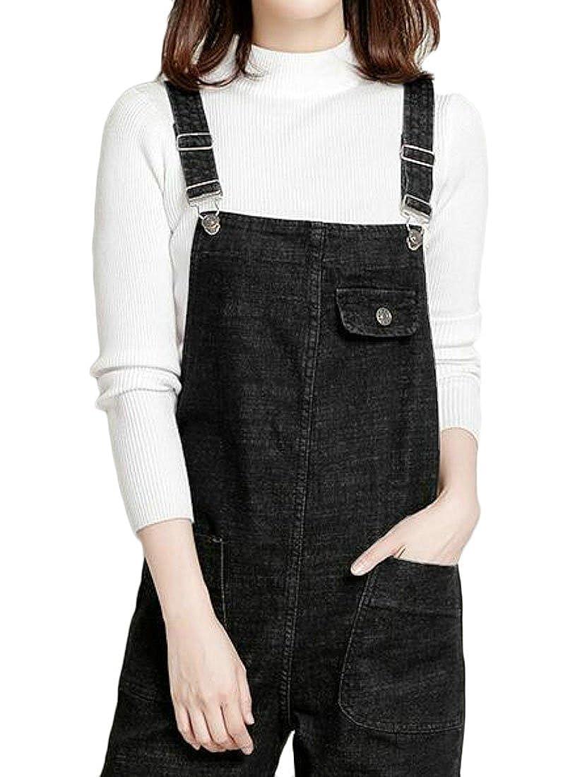 MOUTEN Womens Plus Size Casual Loose Fit Jeans Denim Overalls Girls Bib