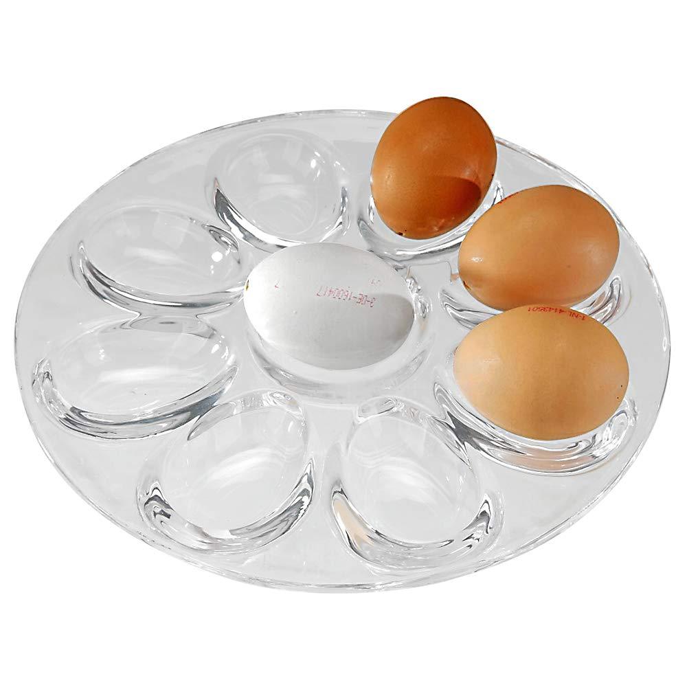 Placa para huevos, 21,6 cm, transparente.: Amazon.es: Hogar