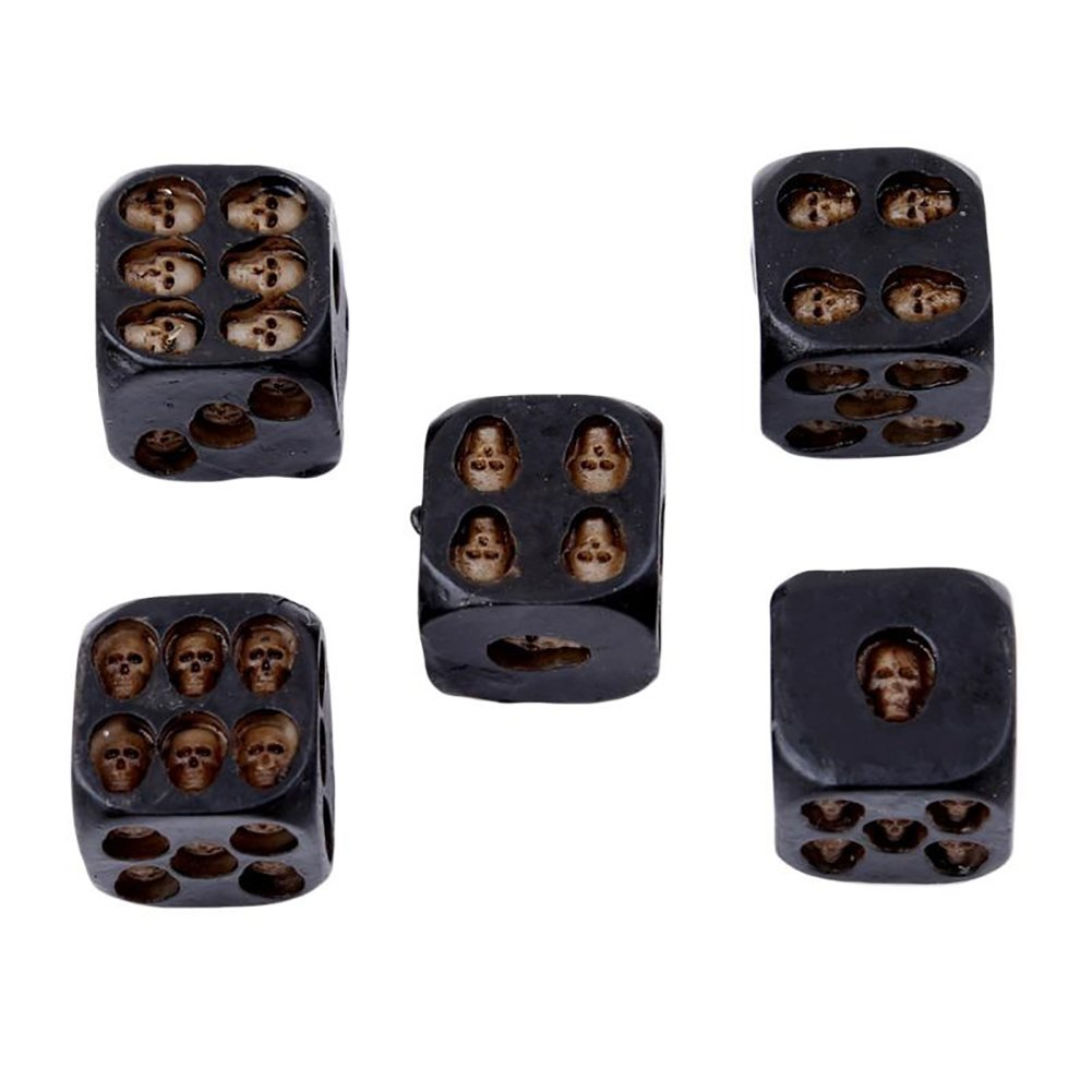 Bangle009 Clearance Sale 5Pcs Creative 6 Sided Skeleton Skull Resin Dice Halloween Festival Bar Game Toy