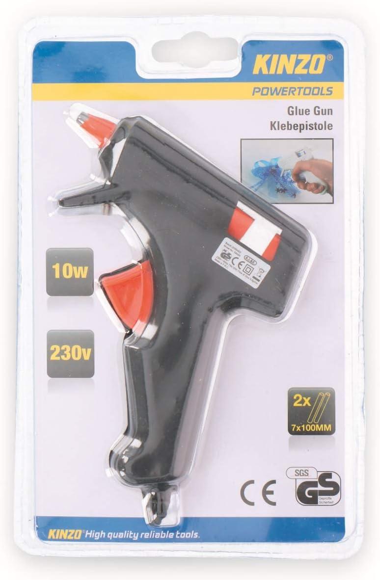 KINZO Pistolet /à colle chaud 10 W pour b/âtons de colle 7 mm