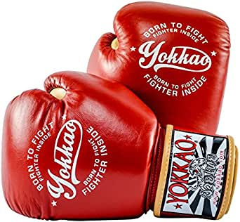 YOKKAO Vintage Boxing Red Gloves/14 OZ