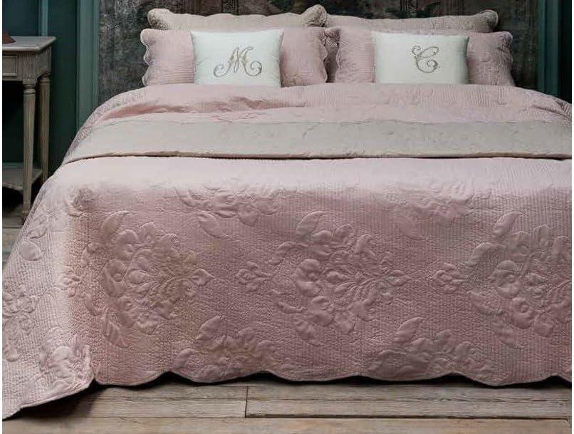 Blanc Maricl/ò Boutis Matrimoniale Guanciali Serie Alie Colore Rosa 2 C