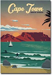 "Cape Town South Africa Travel Vintage Art Refrigerator Magnet Size 2.5"" x 3.5"""