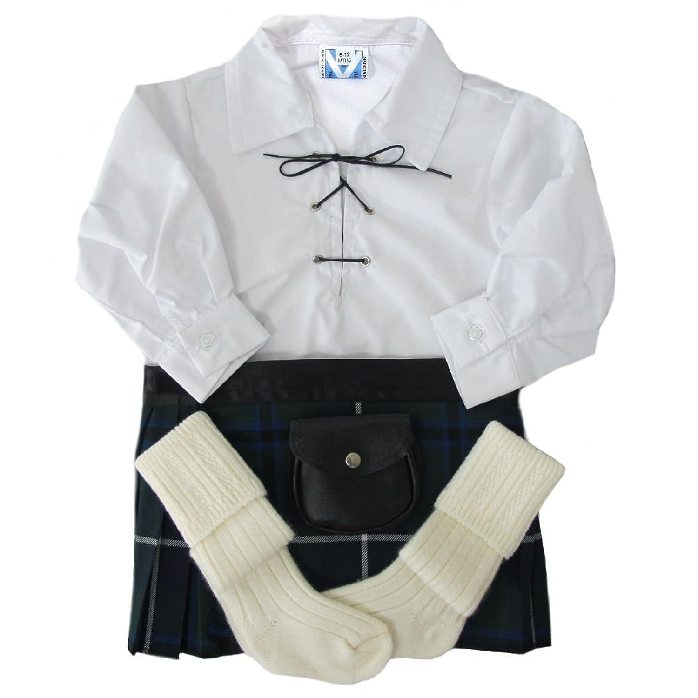 Baby Kilt-Outfit - Modern - Hemd, Kilt, Sporran & Strümpfe - Douglas - 0-36 Monate