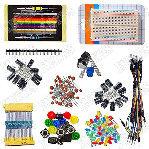 Electronics-fans-package-Arduino-electronic-component-package-Kit-Includes-100R-Resistance-X10-220R-Resistance-X10-330R-Resistance-X10-Resistance-X10-Resistance-X10-100K-Resistance-X10-47K-resistor-X1