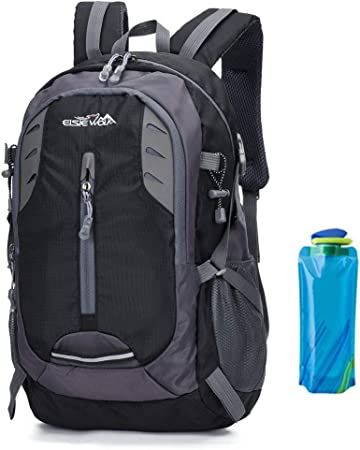 A AM SeaBlue Hiking Backpack 30L Trekking Rucksack Waterproof Outdoor  Climbing Camping Mountaineering Daypack Lightweight Travel Laptop Bag For  Mens Women with Water Bottle (1-Black): Amazon.co.uk: Sports & Outdoors
