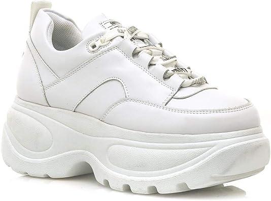 SIXTY SEVEN - Zapatilla Deportiva para Outlet Color: Blanco Talla: 37: Amazon.es: Zapatos y complementos