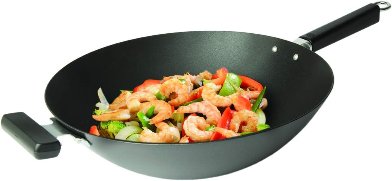 Amazon.com: Joyce Chen 22-0040, wok de base plana con ...