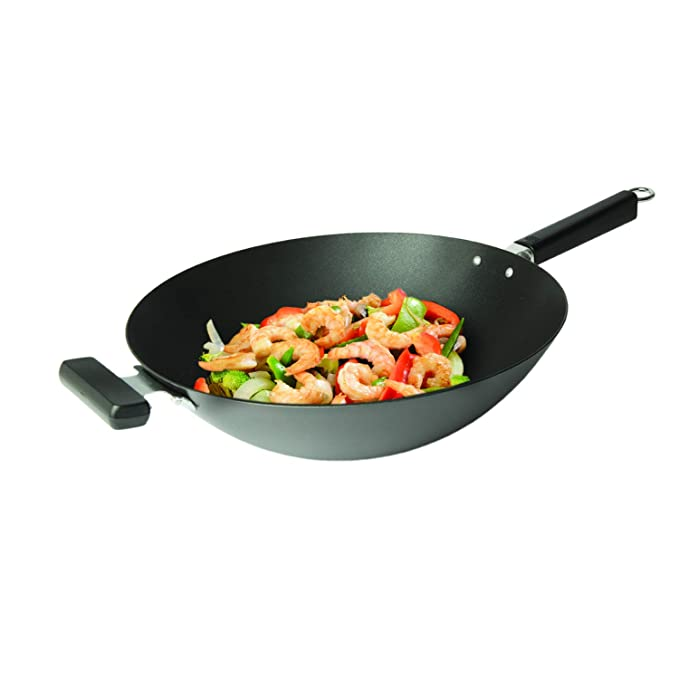 Amazon.com: Joyce Chen 22-0040, wok de base plana con ...