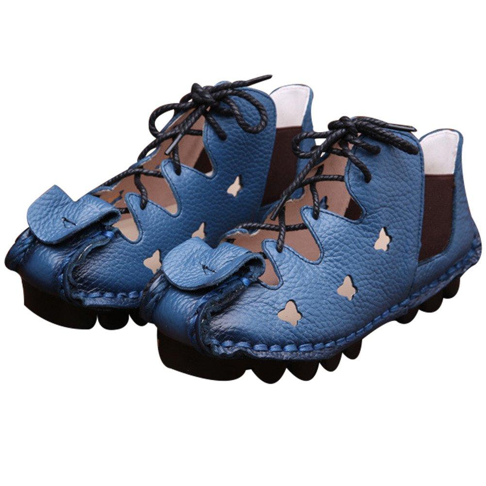 Vogstyle Donna Nuove Sandali Tacco Basso Scarpe Scarpe Scarpe Casuali Blu (Blau-Art 4) eaa426