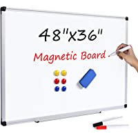 T-SIGN Magnetic Dry Erase Whiteboard 48 x 36 Inch, 4 x 3 Large White Board, Silver Aluminum Frame Wall-Mounted, Magnetic…