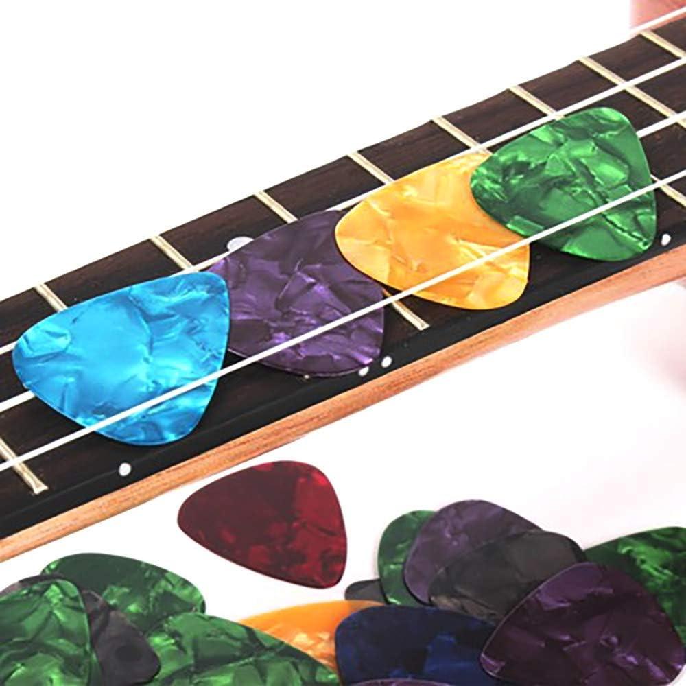 Gogogo-M/édiator 10pcs de Guitare Basse en Cellulo/ïd Durable l/éger agr/éable /à Vos Doigts,Couleur al/éatoire