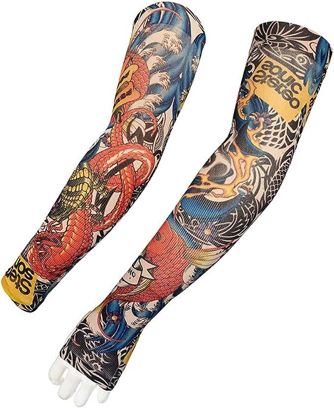 1 par de mangas de de tatuaje novedad Diseños festiva Brazos ...