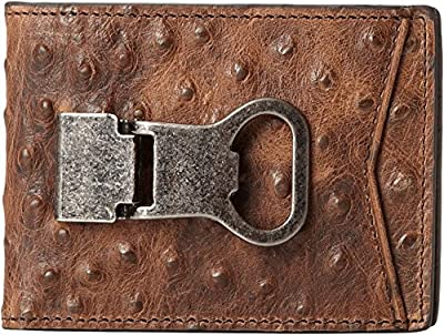 Nocona Belt Co. Mens Bi-Fold Metal Clip Wallet