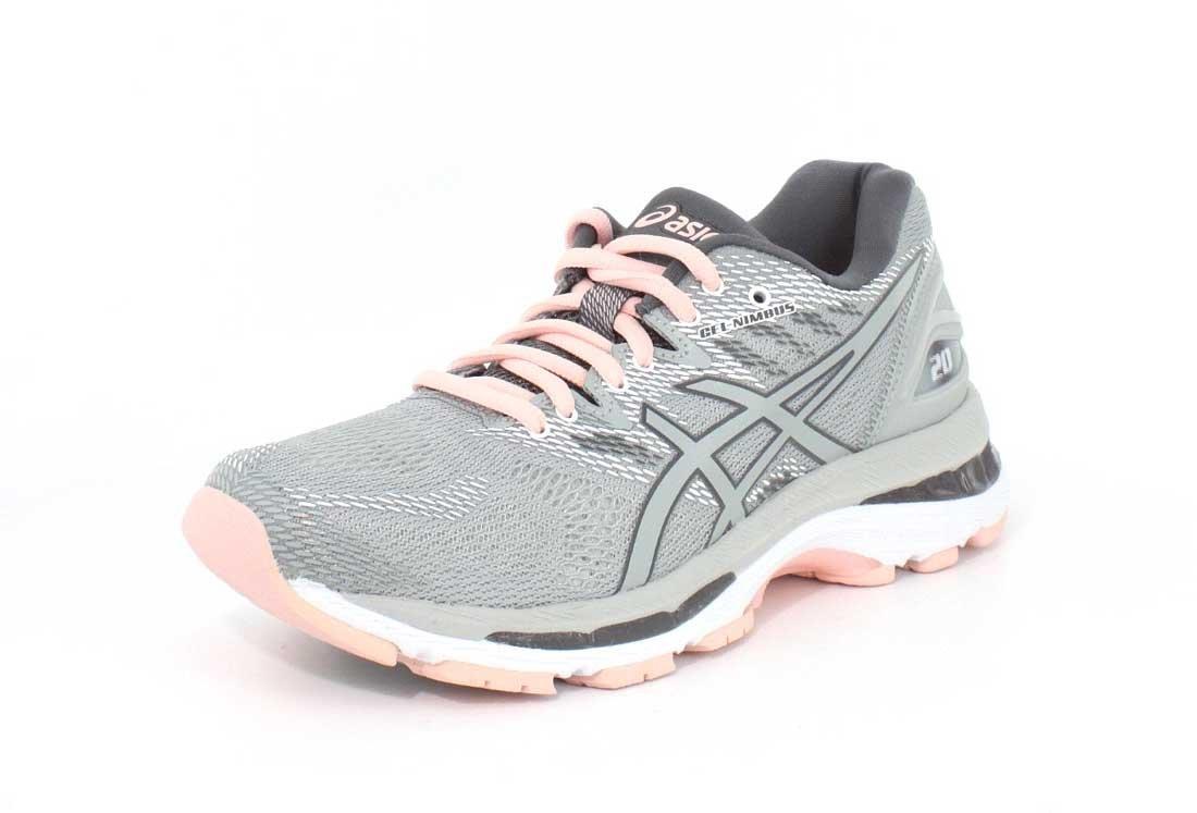 ASICS Women's Gel-Nimbus 20 Running Shoe B071S6HQBY 6 B(M) US|Mid Grey/Mid Grey/Seashell Pink