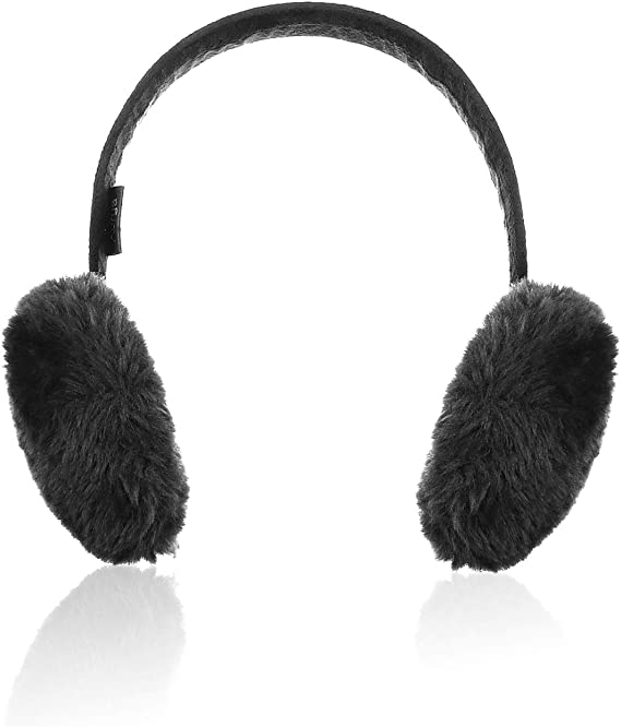 Details about  /Ear Muffs Warmers Foldable Adjustable Accessories Men Adults Solid Plush Leather