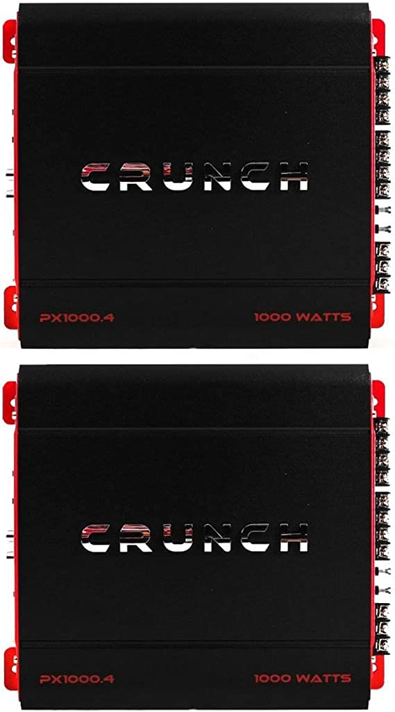 Crunch PX1000.2 1000W 2-Channel PowerX Series Class A//B Car Audio Amplifier
